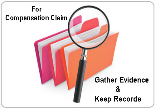 Gather evidence and keep records