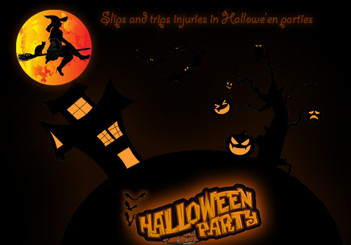 Slips and trips injuries in Hallowe'en parties